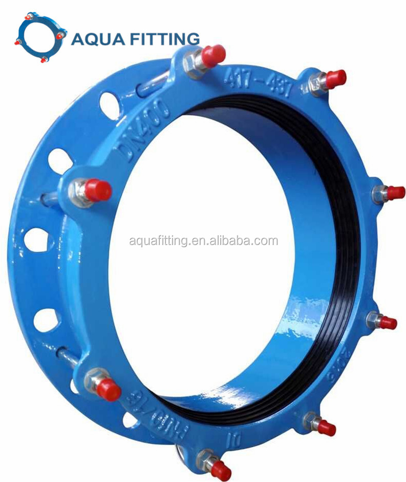 Ductile iron Universal wide range flange adaptor for STEEL DI UPVC CI AND PIPES