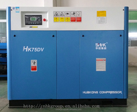 75kw low pressure screw air compressor for machinery
