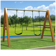 most popular cheap swing Outdoor kids swing set wooden swing