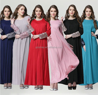 2015 Plus Size Fancy Ladies Tall Tube Muslim Women Sexy Pakistani Long Boutique Maxi Dress with Sequin Sleeve for Women