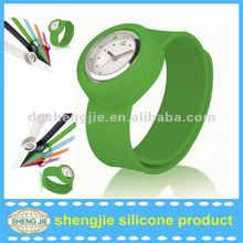 2014 new product eco friendly material silicon slap watches for kids