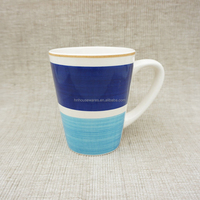 China Wholesale Hand Brush Decorative Hand Painted Mug Cup /Cheap 99 Cent Store Items Plain Coffee Mugs