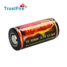 TrustFire 32650 6000mAh Li-ion battery 3.7V/4.2V D size lithium battery rechargeable with PCB