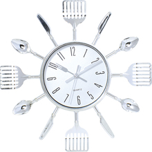 The 3D Single spoon Knife and fork kitchen clock