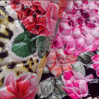 2015 PU Patent Leather PVC For Handbags Flower Design