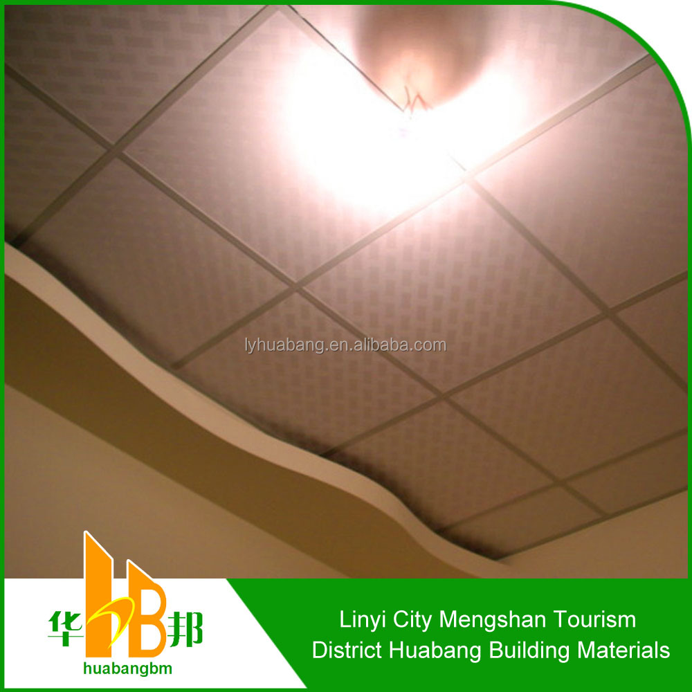 Suspended acoustic ceiling tiles