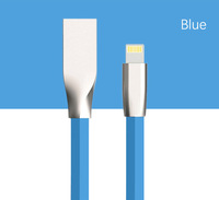 3D Zinc Alloy Head Candy Color charger cable 2.4A Fast Charging for iPhone 7 Usb Cable