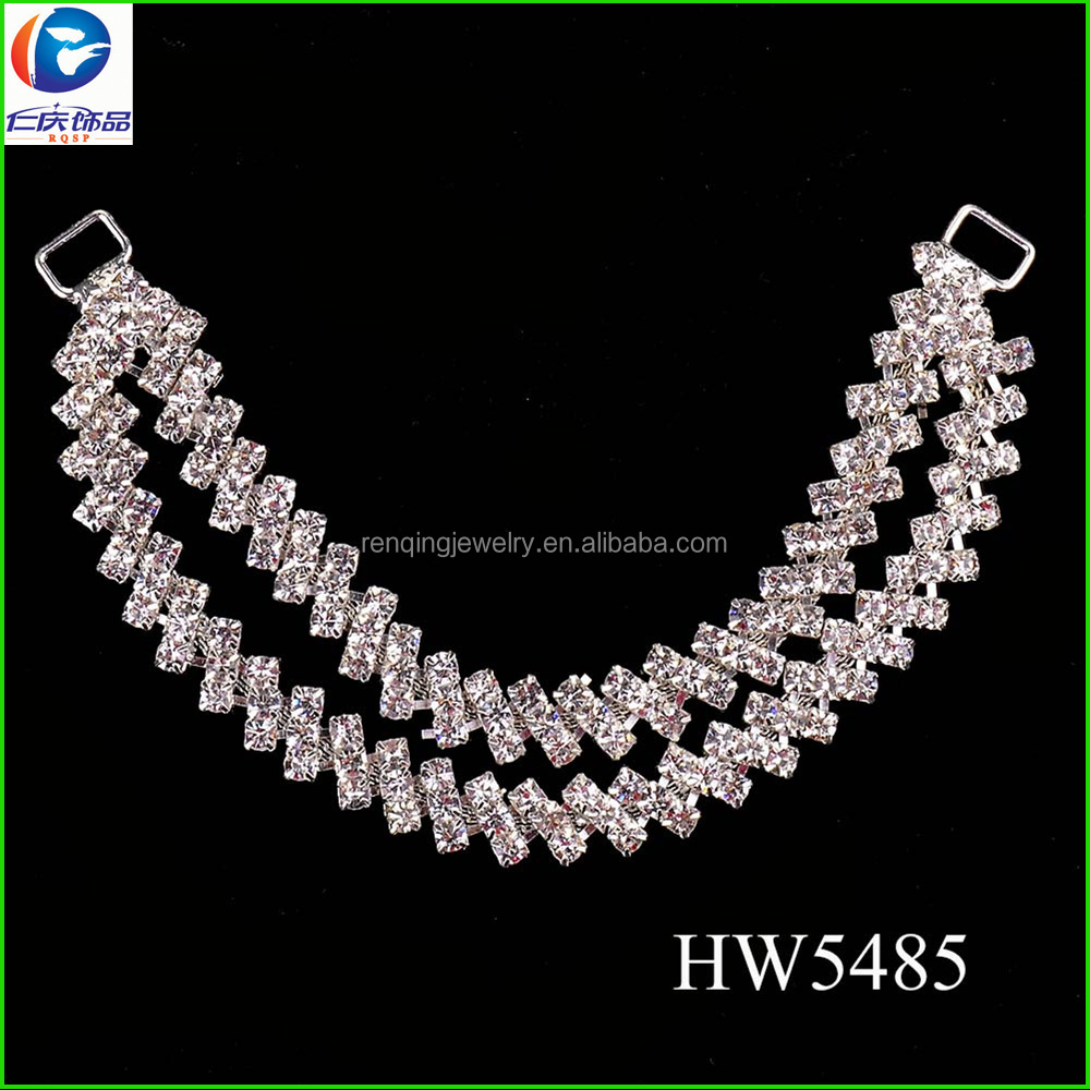 rhinestone women underwear chain with silver plating color for summer wear connector