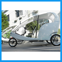 Passenger cabin electric pedal assisted tricycle