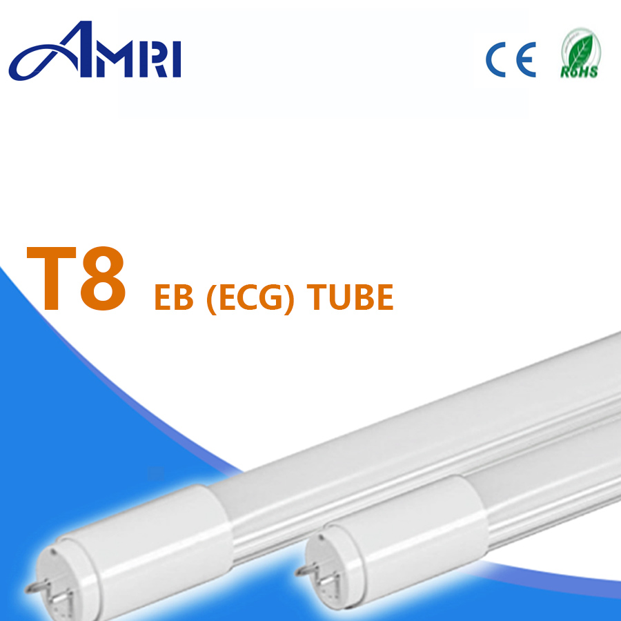 T8 EB (ECG) LED tube light lamp compatible magnetic ballast lighting pipe CE and Rohs