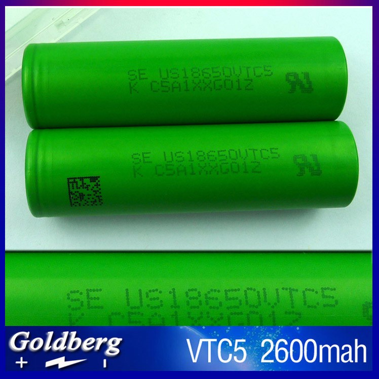 Fresh Stock! Authentic 18650 VTC5 30A 2600mAh High Drain Li-ion Cell