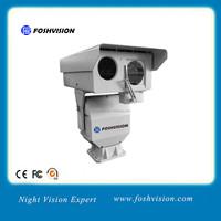 Long range thermal and visible day light laser night vision IP camera