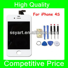 For iPhone 4S White Replacement Part - LCD and Touch Screen Digitizer Assembly + 7 Pieces Tool Set for iPhone 4S