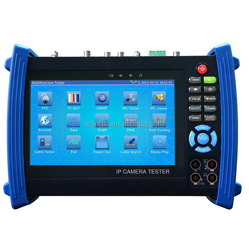New Multifunction 7 inch touch screen IP AHD TVI CVI SDI cctv tester