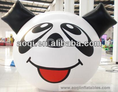 Advertising lovely panda cartoon balloons