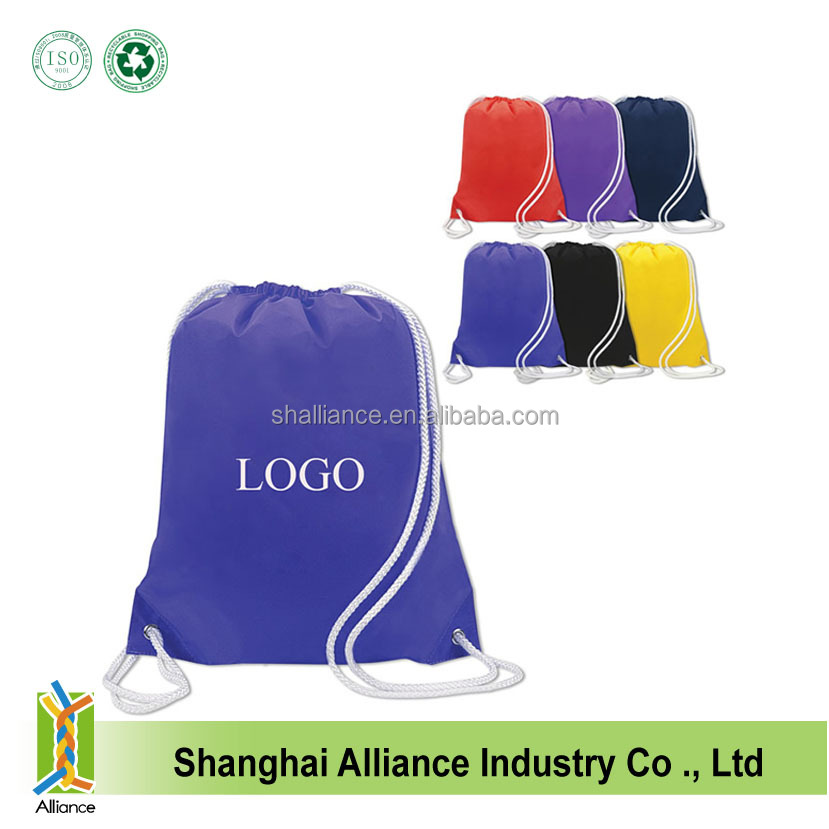Waterproof Nylon Leisure Customized Basketball Sport Drawstring Backpack