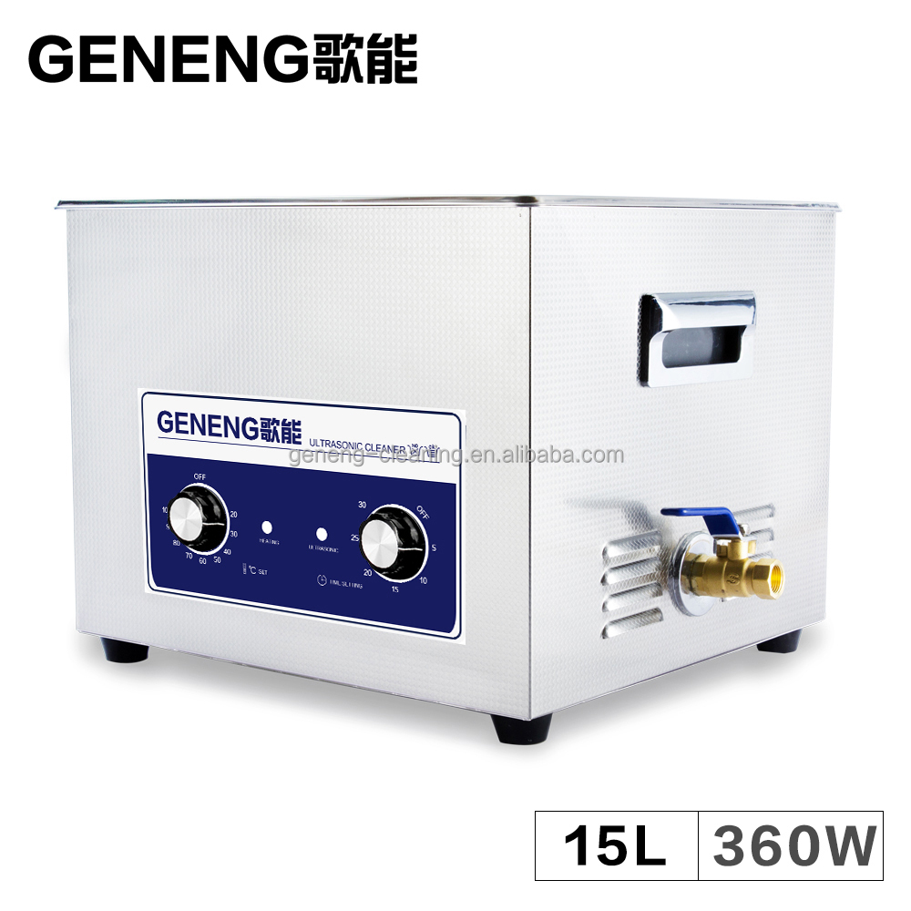 15L Manual Ultrasonic Cleaner Bath engine carbon Degreaser MainBoard Hardware Mold Laboratory Heater Time Setting Tank
