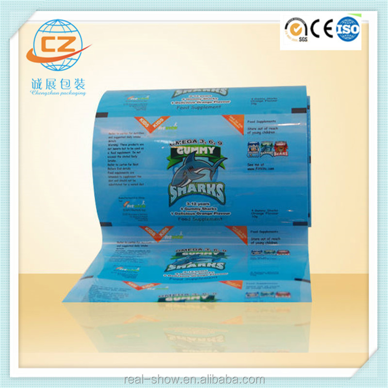 FDA aluminum foil roll film for chocolate wrapper/ candy wrapping paper/ chocolate bar packaging material