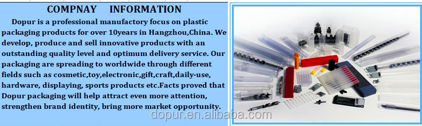 clear solid plastic tool box packaging made in china