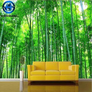 2016 Bamboo Wallpaper 3d simple scenery wallpaper /wall murals in dalian shenghang decor