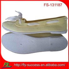 italy new design bright color flat shoe