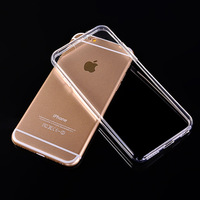 Ultra-thin for iphone 6 clear protective phone case 4.7 transparent 5.5 inch TPU cell phone case