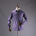 WUHAN OEM wholesale Men's all over print shirt lavender dress shirt