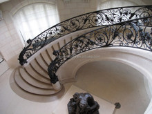 Modern design luxury interior wrought iron handrail / outdoor wrought iron stair railings/lowes wrought iron stair and railing