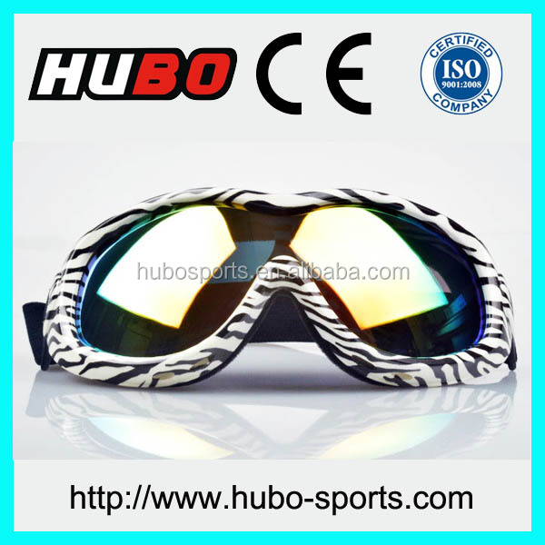 China UV protection printed ski glasses cheap motorcycle goggles for adult