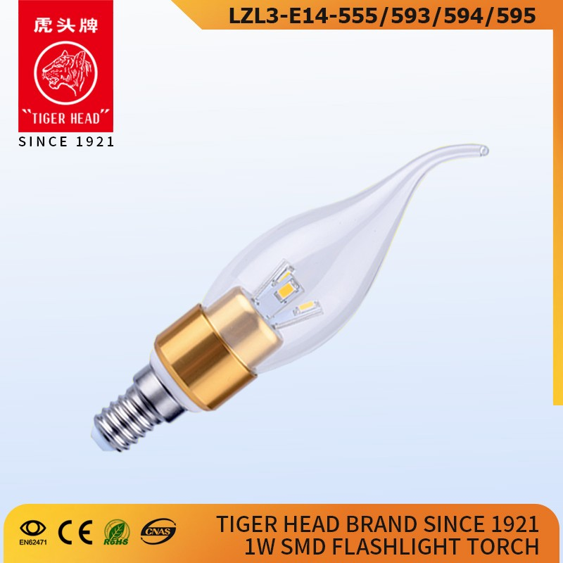 2017 New China Factory Great Quality E14 3W Clear Glass brightness dimmable led light candle lights bulb lamp