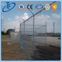 ISO9001 decorative 6 foot chain link fence and high quality fence netting