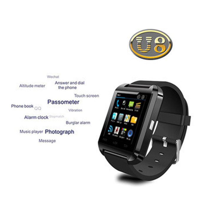 Cheapest Bluetooth Smart Watch U8 Smartwatch for iPhone Samsung Android Smartphones