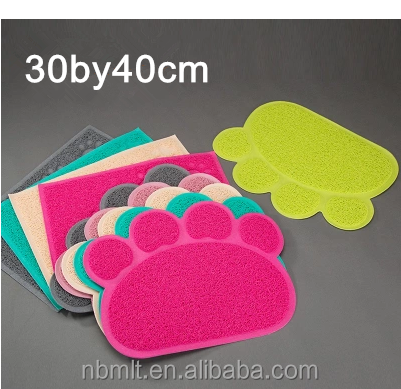 BPA free pet products no hurt to wood floor cat mat paw shaped Small Animals Application and Mats & Pads