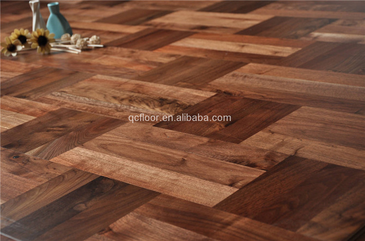 multi-layer American walnut parquet wood flooring suitable for heating ystem