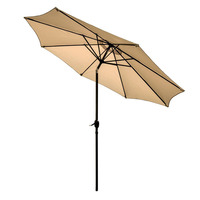 9' Octangular 1000 Hours Fade-resistant promotion large market sun custom outdoor patio parasol garden umbrella