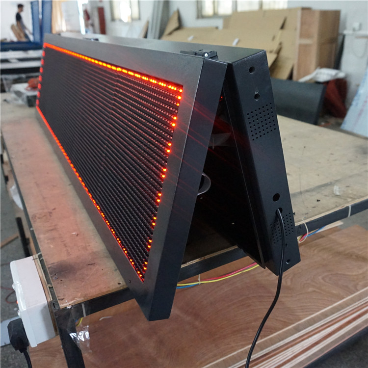 <strong>P10</strong> Customized single color red led display board message sign
