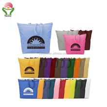 new fashion promotional Customized Wholesale big 12oz Standard Size Beach Cotton Canvas Bag with zipper