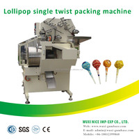 Superior full automatic single twist ball lollipop Flow Wrapping Machine