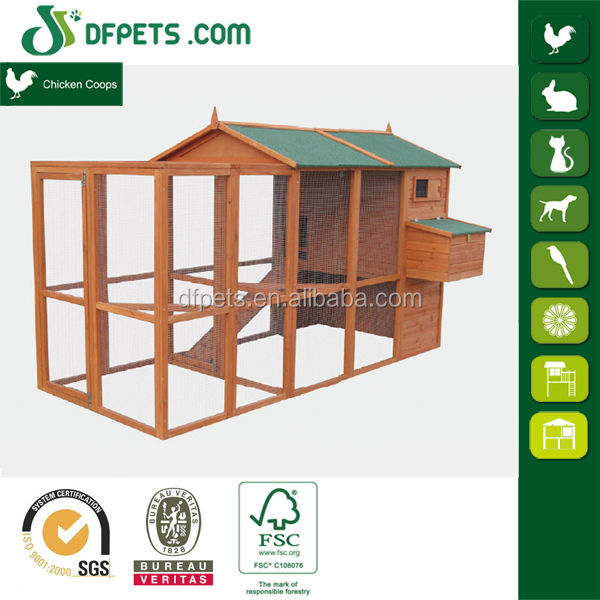DFPets DFC008+Run Pigeon Coop With Nesting Box