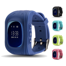 Safety Keeper!LCD OLED Touch Screen Anti-Lost SOS Call Function Kids GPS Tracker Smart Watch Q50 Children Smart Watch