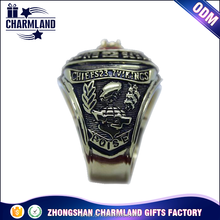 Classic man's championship ring custom kids baseball metal championship ring for sports fans