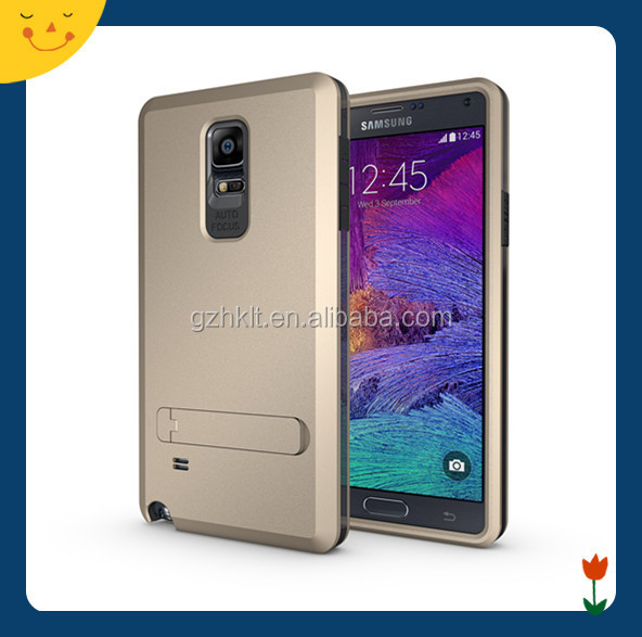 China wholesale! tpu&pc 3 in1 dual layer slim armor cell phone case cover for Samsung galaxy note 4 N9100 with stand