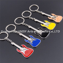 Cheap customized guitar keyring keychain guitar shaped metal key chains