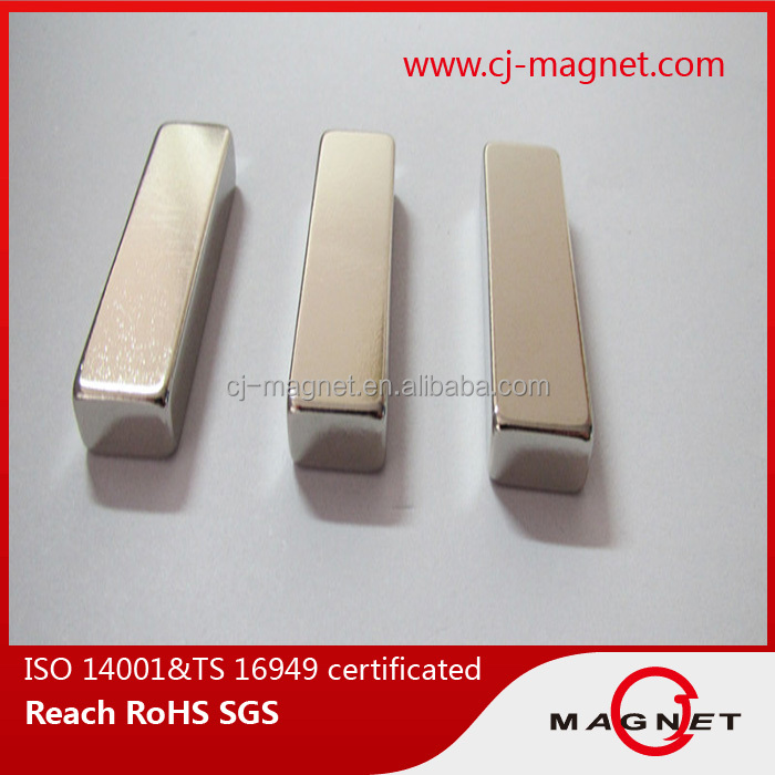 high performance N52 neodymium magnet permanent block for fan motor in good sale