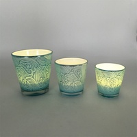 Chinese glass material wall mounted candle holder wholesale