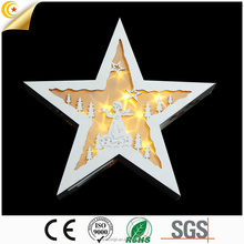wooden star shapes wall hanging led light star light xmas light