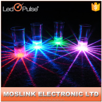 Hot sale party bar favor sound sensor led flashing shot glass,beautiful lighting led flashing cup