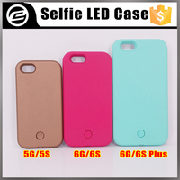 Stock for Hot selling Illuminated Selfie Cell Phone Case light up cell phone case for iPhone 5g 5s 6g 6s plus
