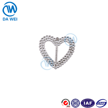 Dawei company custom all-match decoration clothes italian belt decorative ribbon buckle heart parts