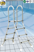 swimming pool decorative bamboo ladder